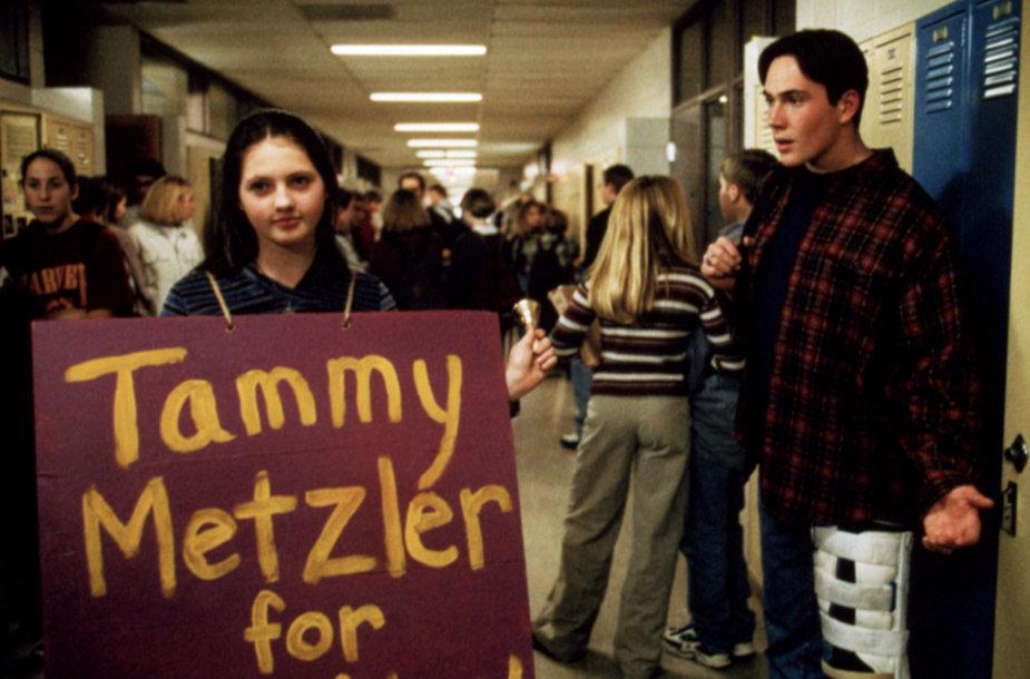 """Jessica Campbell, Chrisas Kleinas, kadras iš 1999-ųjų filmo """"Rinkimai"""""""