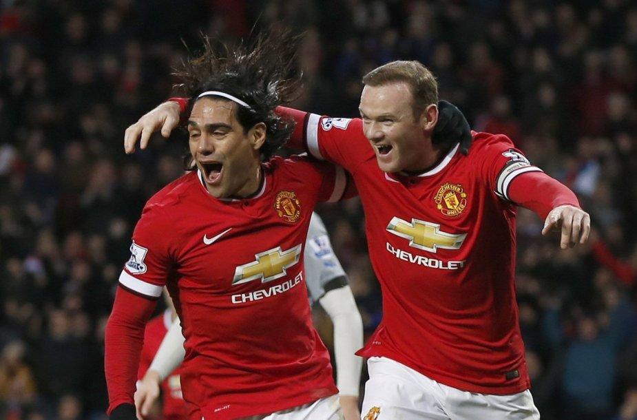 Radamelis Falcao ir Wayne'as Rooney