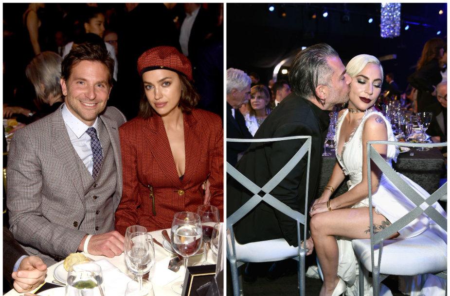 Bradley Cooperis, Irina Shayk, Lady Gaga, Christianas Carino