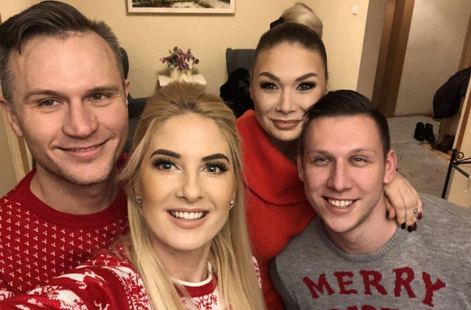 Kristinos Ivanovos ir Natalijos Bunkės Kūčių vakaro akimirka