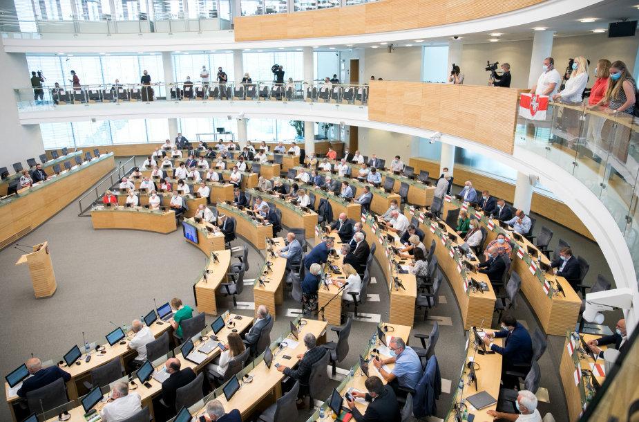 Neeilinis Seimo posėdis dėl padėties Baltarusijoje