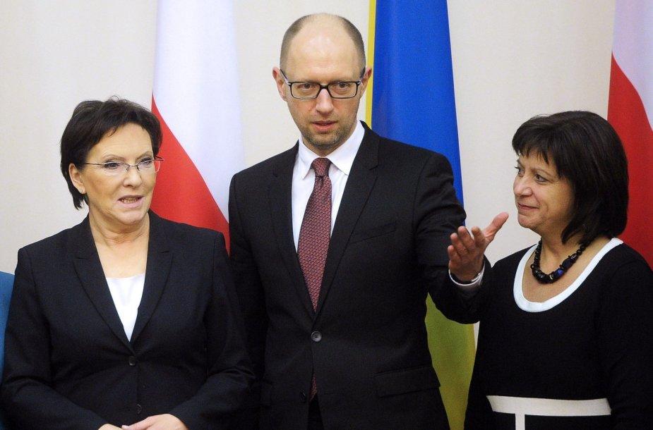 Ewa Kopacz ir Arsenijus Jaceniukas