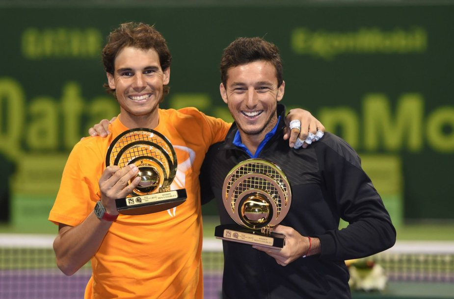 """Rafaelis Nadalis ir Juanas Monaco tapo """"Qatar ExxonMobil Open"""" dvejetų turnyro čempionais"""
