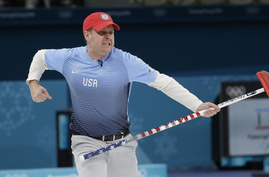 Amerikiečiai tapo kerlingo olimpiniais čempionais.