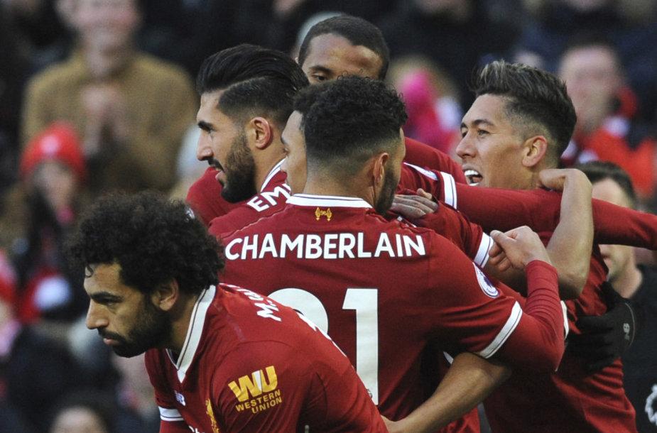 """""""Liverpool"""" palypėjo į antrąją vietą Anglijos lygoje."""