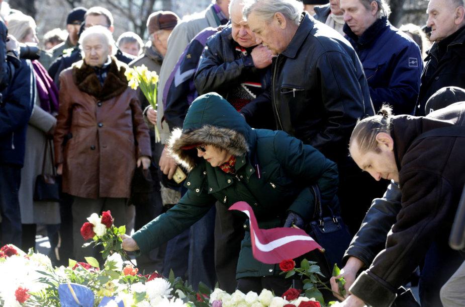Renginys latvių SS legiono karių atminimui