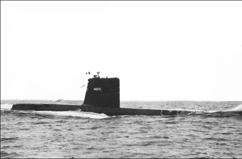 """Prancūzijos povandeninis laivas """"Minerve"""""""