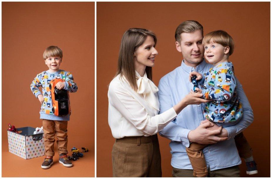 Bernardas su tėvais