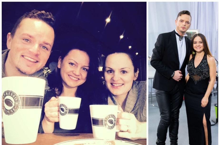 Ruslanas Kirilkinas su seserimis Viktorija ir Oksana