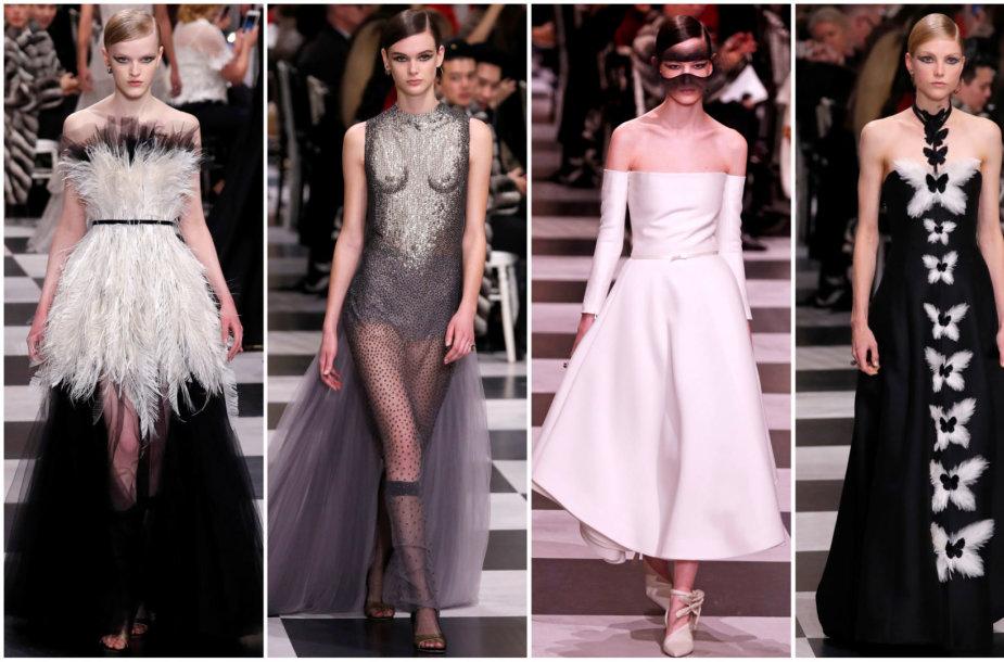 """""""Christian Dior"""" aukštosios mados pavasario ir vasaros kolekcijos modeliai"""