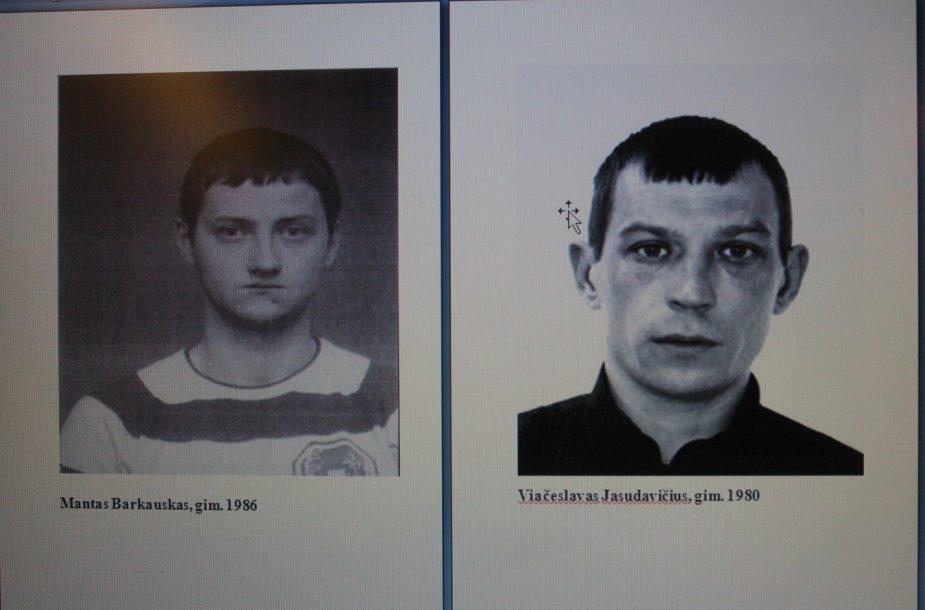 Ieškomi asmenys M.Barkauskas ir V.Jasudavičius