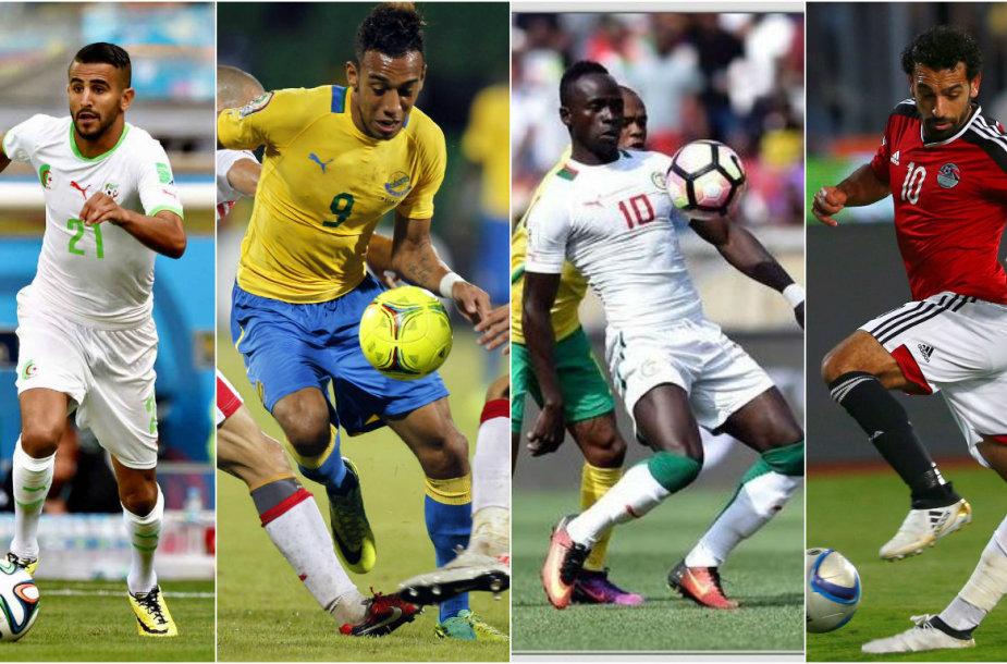 Afrikos futbolo ryškiausios žvaigždės