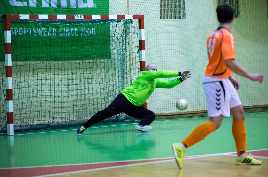"""Lietuvos salės futbolo A lygos mačas tarp Vilniaus """"Bekento"""" ir Prienų """"STIHL""""'"""