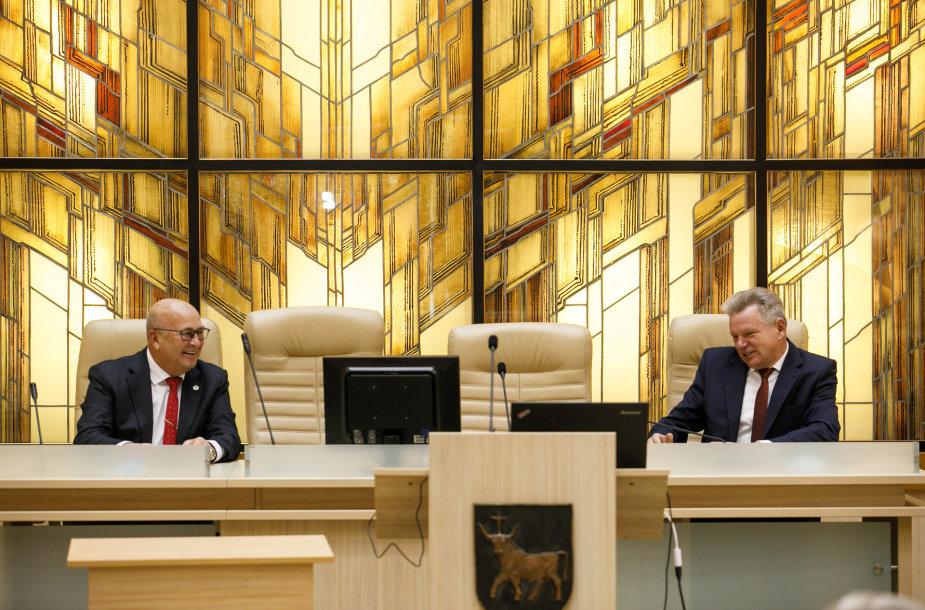 Visvaldas Matijošaitis ir Jaroslavas Narkevičius