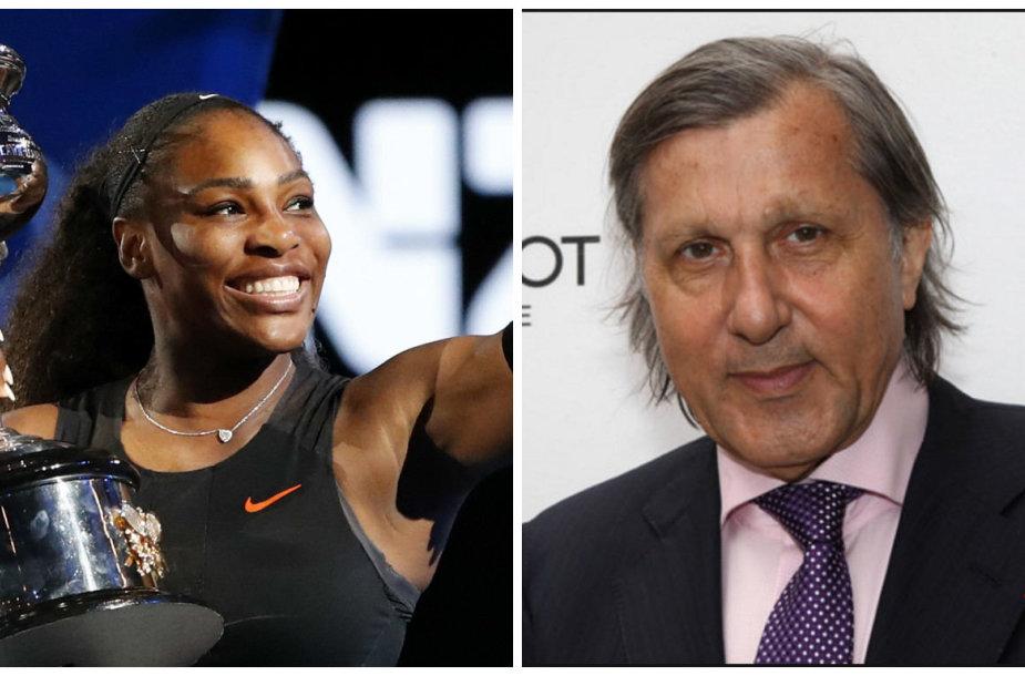 Serena Williams ir Ilie Nastase