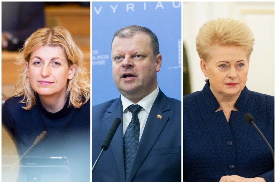 Liana Ruokytė-Jonsson, Saulius Skvernelis, Dalia Grybauskaitė