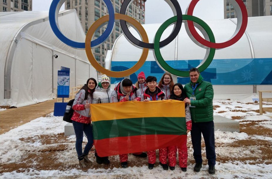 Lietuvos delegacija Pjongčange