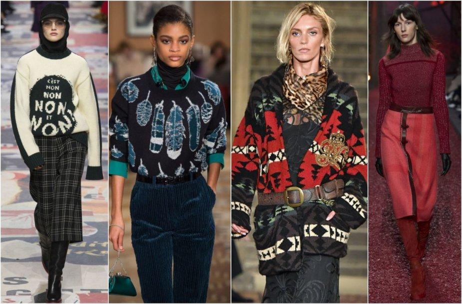 2018–2019 m. rudens ir žiemos megztinių tendencijos