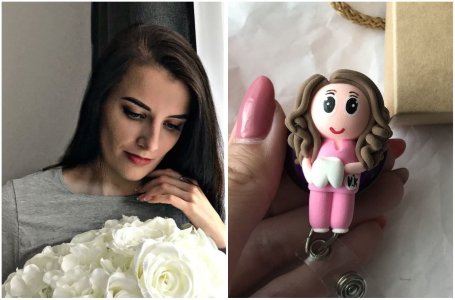 Liucina Mackevič ir jos sukurta lėlytė