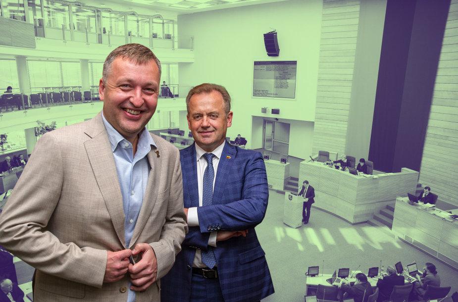 Antanas Guoga ir Artūras Skardžius