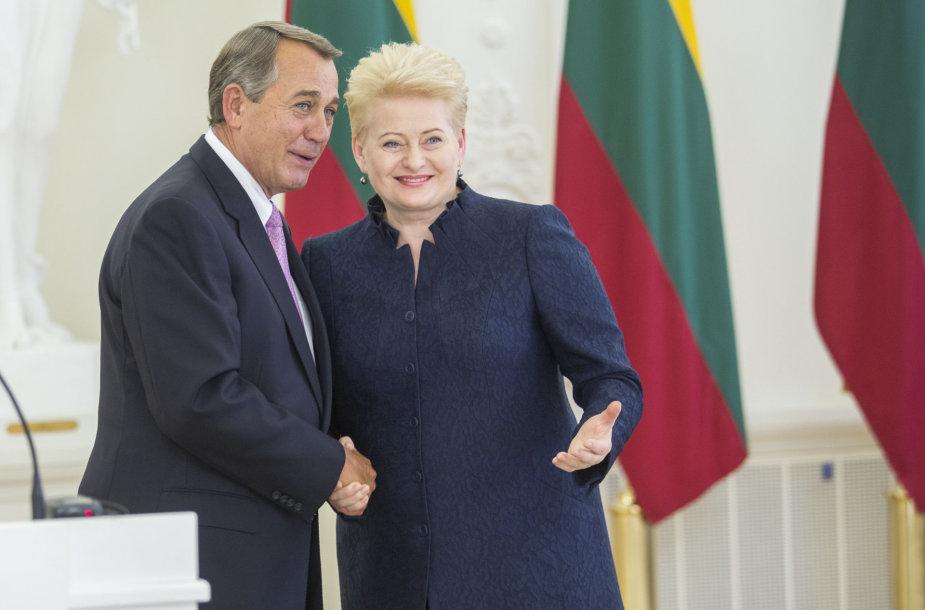 Dalia Grybauskaitė ir Johnas Boehneris