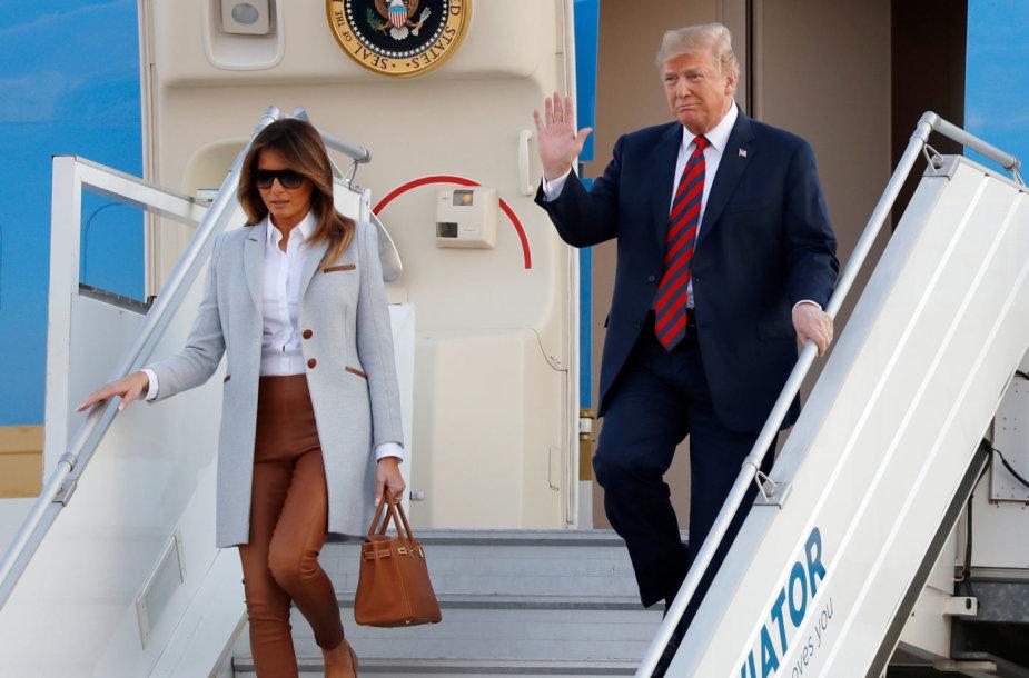 D.Trumpas ir Melania Trump atvyko į Helsinkį