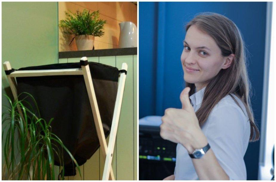 Aurelija Olendraitė ir kompostavimo dėžė