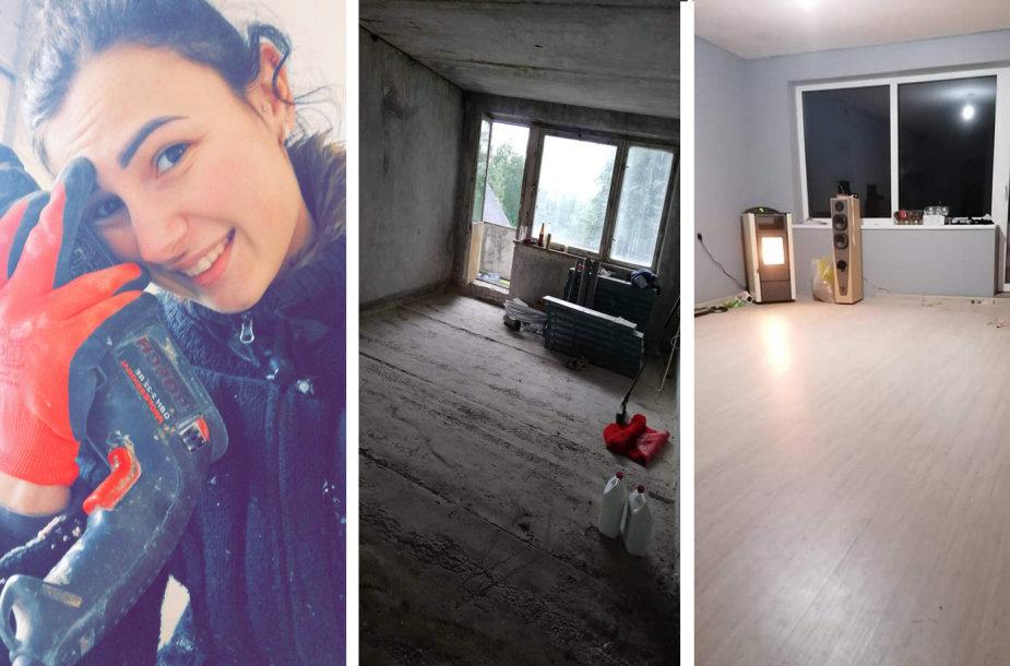 Aurelija Giedraitienė seną ir apleistą butą pavertė jaukiais namais