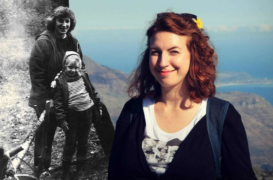 Birutė Kapustinskaitė – vaikystėje su mama ir dabar