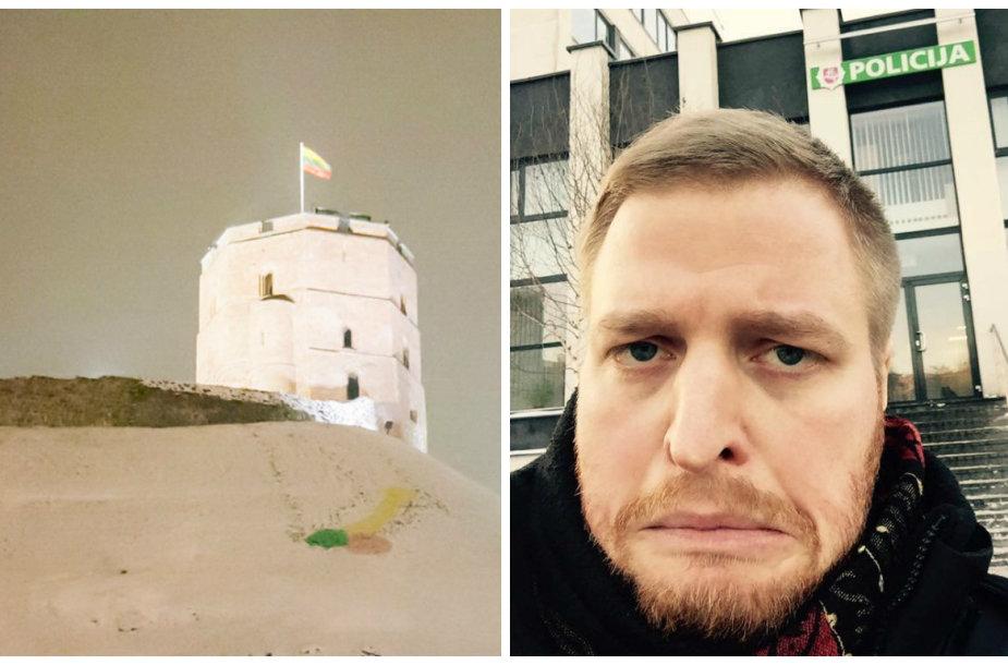 Skaitytojo atsiųsta penio nuotrauka ir Mykolas Pleskas