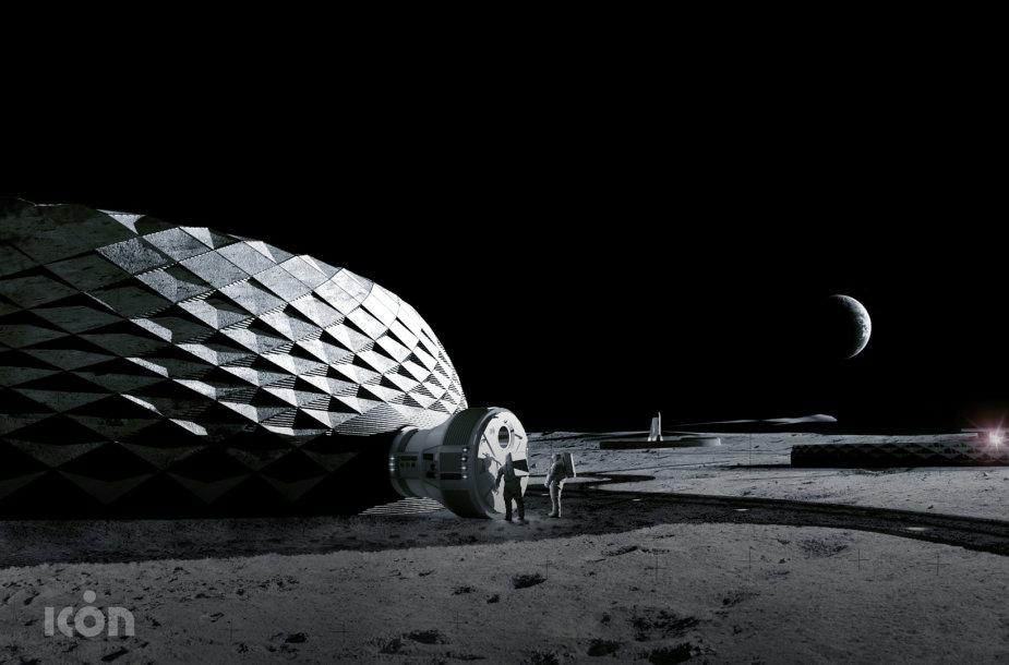 Viena pagrindinių technologijų Mėnulio statybose turėtų būti trimatis spausdinimas iš vietinių medžiagų