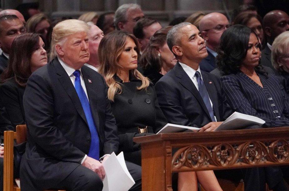 JAV eksprezidento George'o H.W.Busho laidotuvių pamaldos