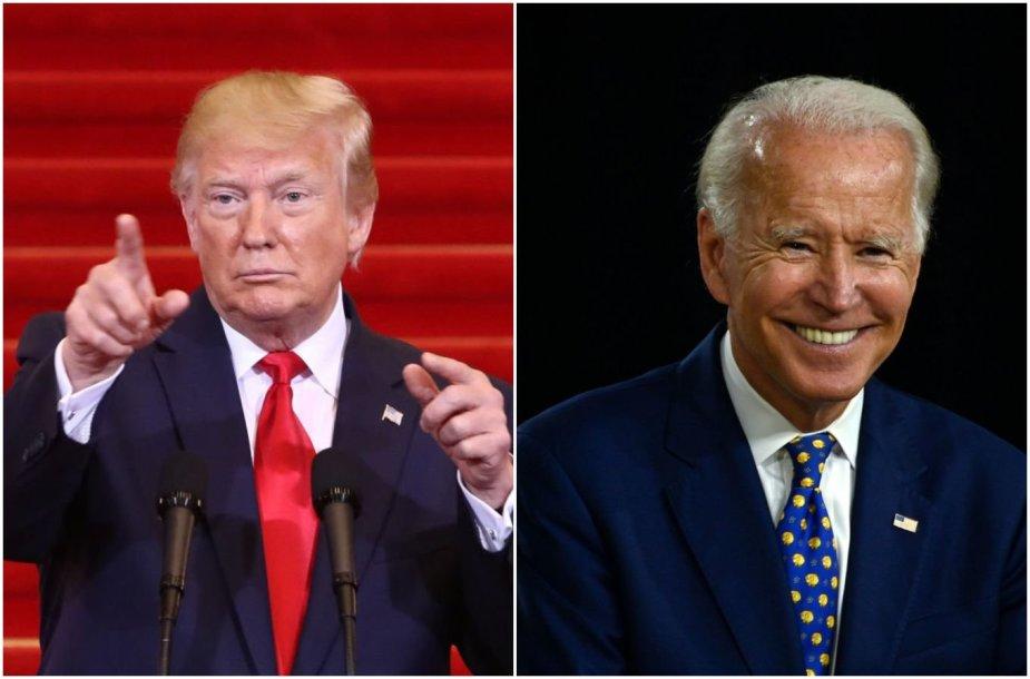 Donaldas Trumpas ir Joe Bidenas