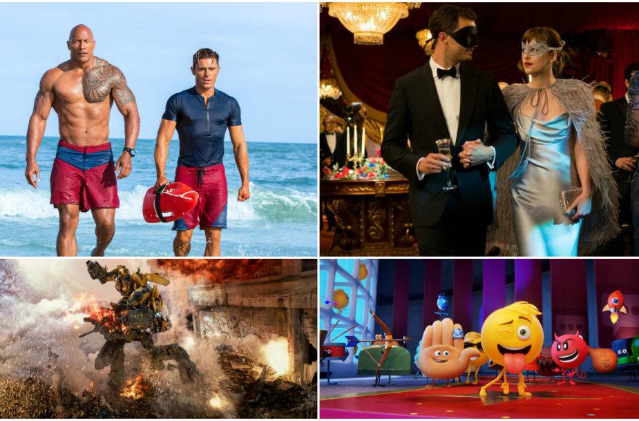 """Blogiausi 2017 metų filmai: """"Gelbėtojai"""", """"Penkiasdešimt tamsesnių atspalvių"""", """"Transformeriai: paskutinis riteris"""" ir """"Emodži filmas"""""""