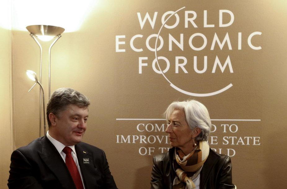 Petro Porošenka ir Christine Lagarde