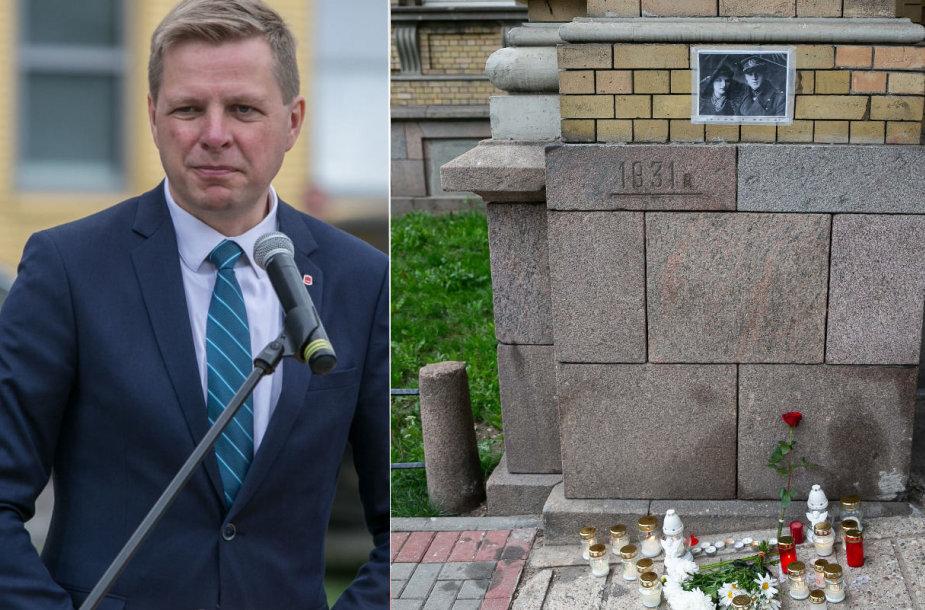 Remigijus Šimašius, Jono Noreikos-Generolo Vėtros atminimo lenta