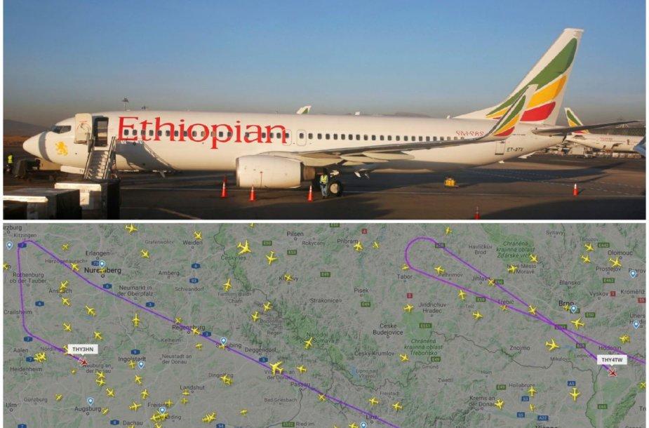 """Po """"Ethiopian Airlines"""" orlaivio """"Boeing 737 MAX 8"""" katastrofos """"Turkish Airlines"""" lėktuvai turėjo suktis vidury skrydžių"""