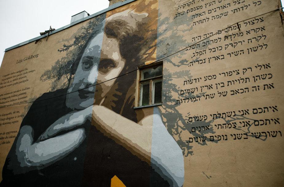 Meno kūrinys žydų poetei Lėjai Goldberg atminti