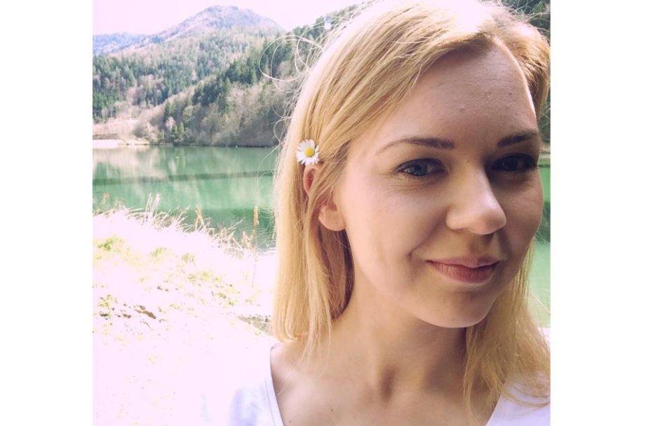 Monika Linkytė filmavimo aikštelėje Austrijoje