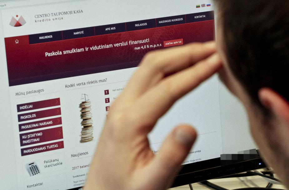 Kredito unijos Centro taupomoji kasa internetinė svetainė