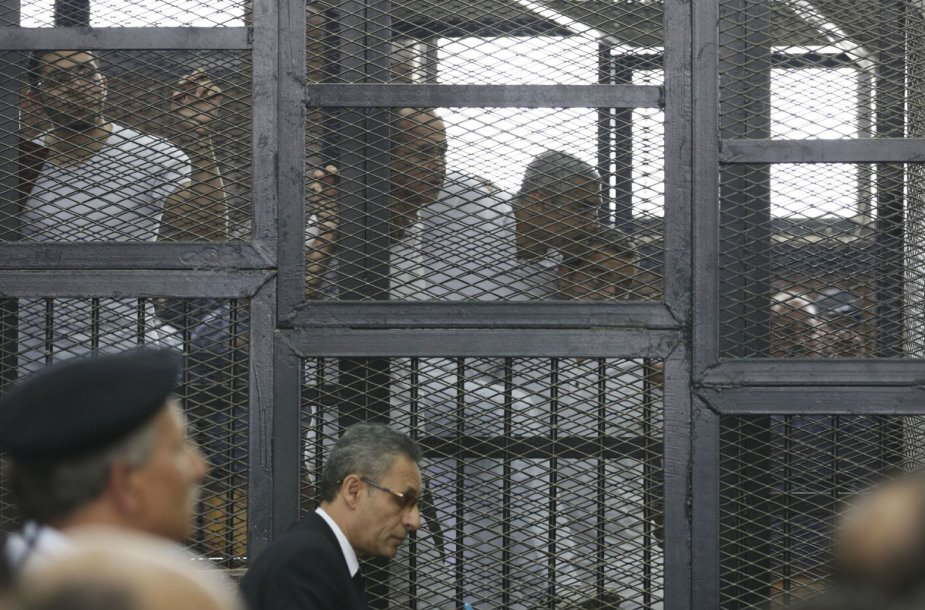 Žurnalistai Egipto teisme