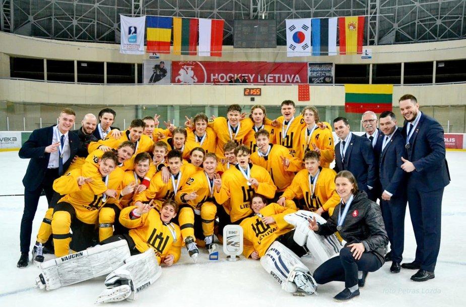 Lietuvos U18 ledo ritulio rinktinės sidabras