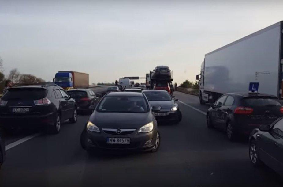 Lenkijos autostrados chamai