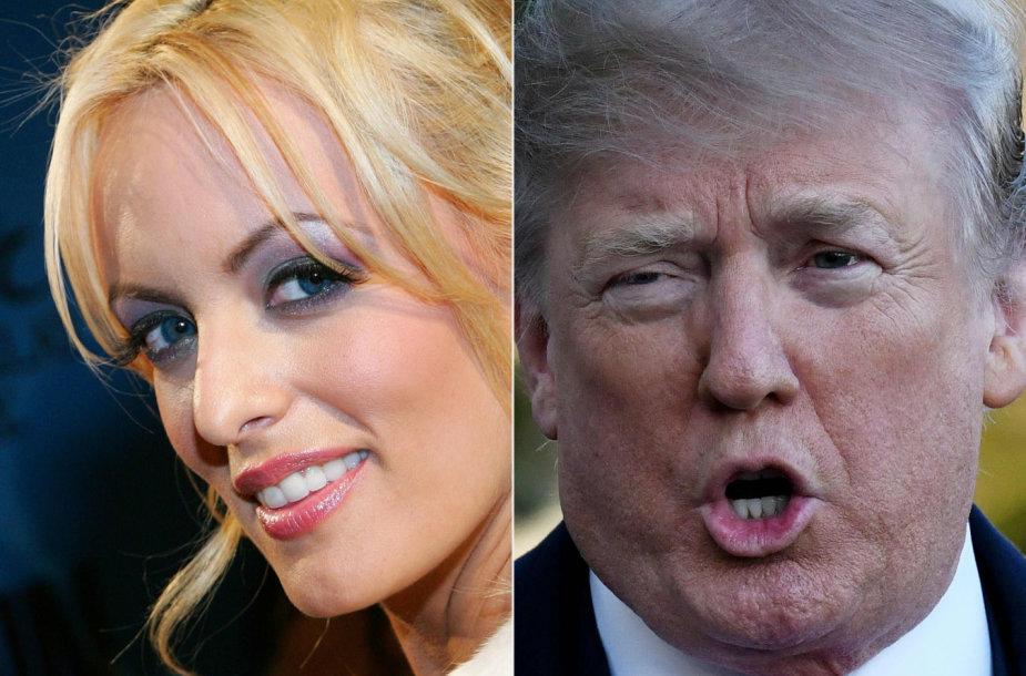 Stormy Daniels papasakojo apie grasinimus dėl Donaldo Trumpo