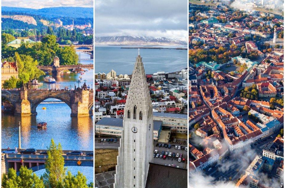 Praha, Reikjavikas, VIlnius – tarp pozityviausiai vertinamų miestų