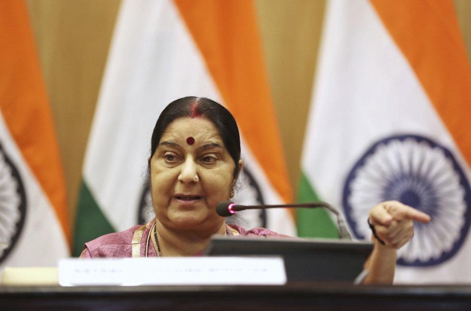 Indijos užsienio reikalų ministrėSushma Swaraj