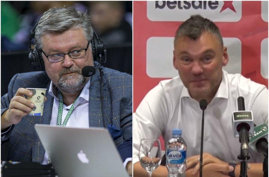Vaidas Čeponis ir Šarūnas Jasikevičius
