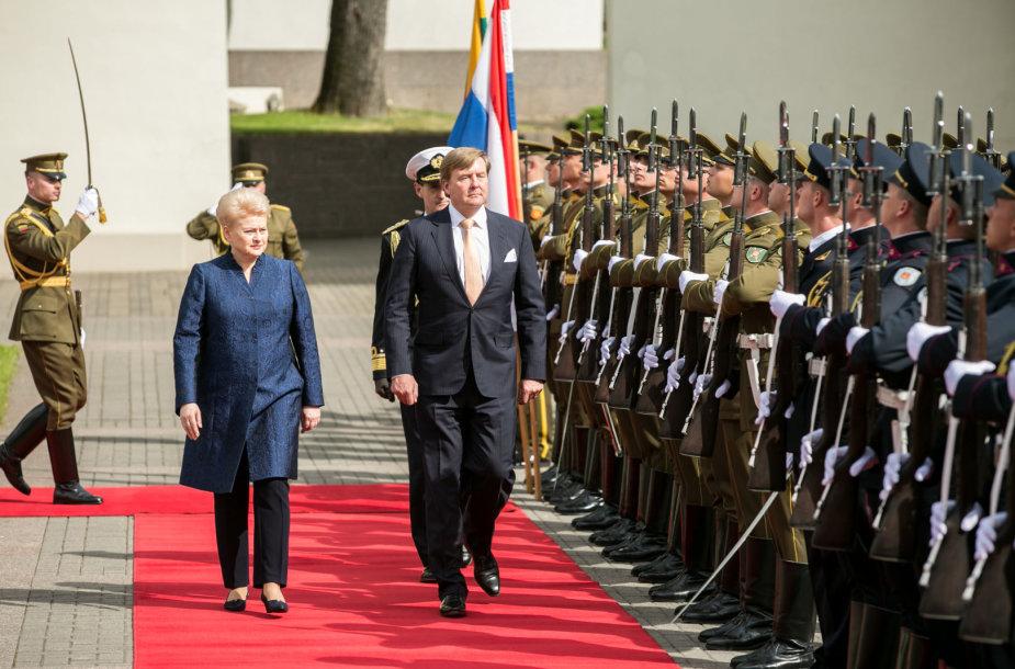 Dalia Grybauskaitė ir Willemas-Alexanderis