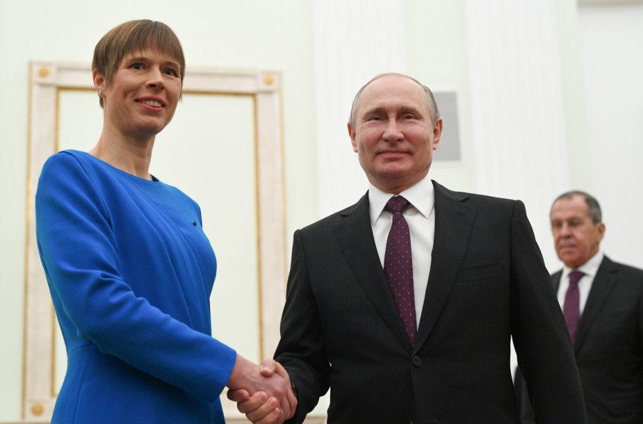 Kersti Kaljulaid ir Vladimiras Putinas