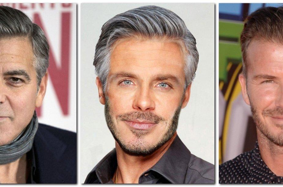 Georgas Clooney ir Davidas Beckhamas
